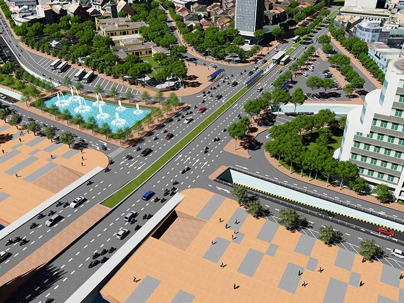 Đà Nẵng: 350 tỉ đồng cho hai hầm chui phía Tây cầu Rồng - ảnh 1