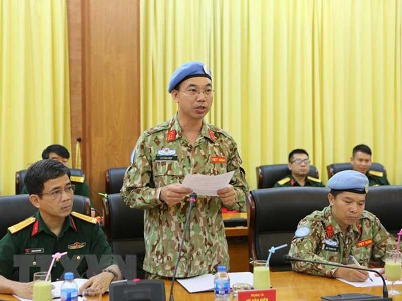 7 sĩ quan Việt Nam đi gìn giữ hòa bình Liên Hiệp Quốc - ảnh 1