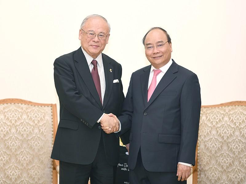 Thủ tướng tiếp cố vấn Liên minh Nghị sĩ hữu nghị Nhật-Việt - ảnh 1