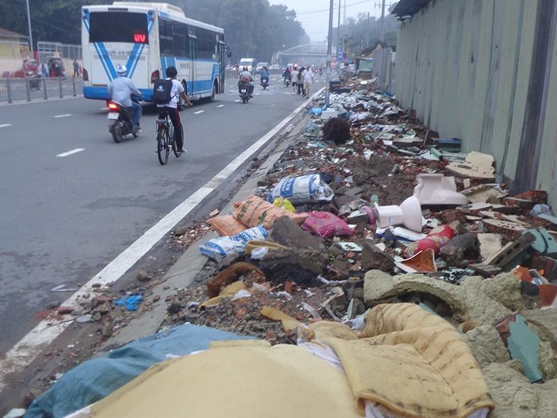 Bãi rác khổng lồ giữa phố - ảnh 1