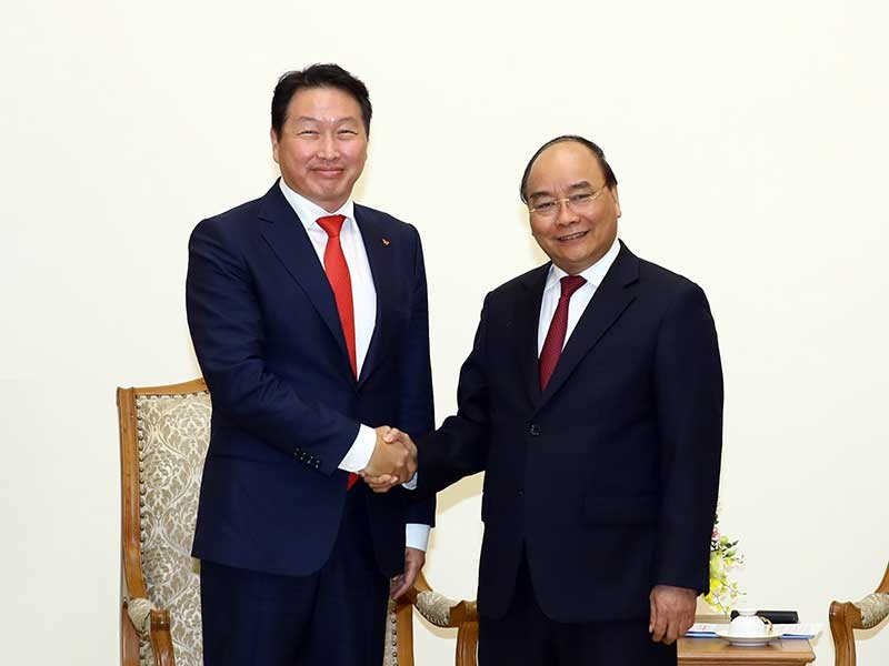 Thủ tướng tiếp chủ tịch tập đoàn lớn của Hàn Quốc - ảnh 1