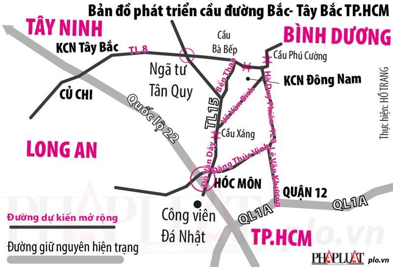 Đồng loạt mở rộng nhiều tỉnh lộ Tây Bắc TP.HCM - ảnh 1