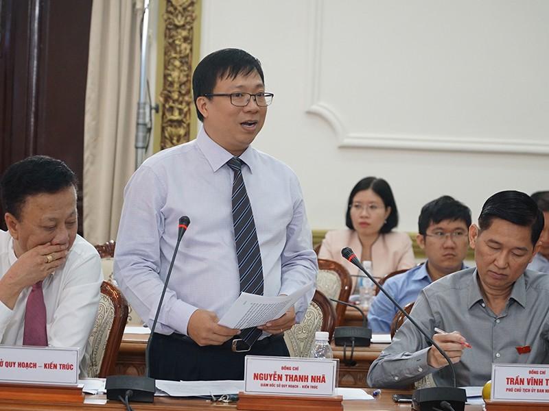 Giám đốc Sở QH-KT Nguyễn Thanh Nhã nhìn nhận bất cập trong quy hoạch có trách nhiệm của Sở QH-KT. (Ảnh: Việt Hoa)