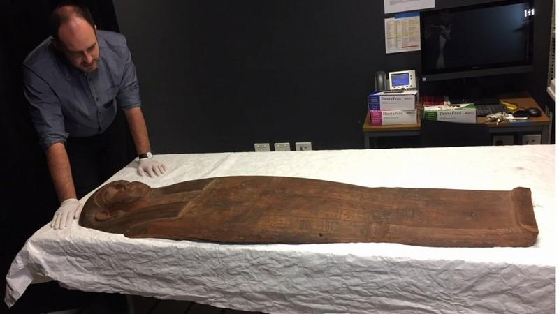 Phát hiện xác ướp 2.500 tuổi trong quan tài 'ngỡ rỗng' - ảnh 1