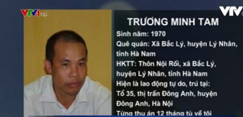 Đối tượng Trương Minh Tam.