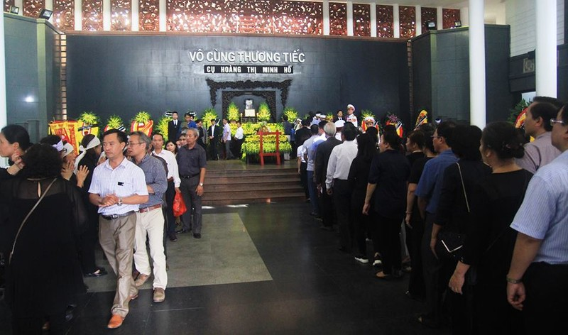Lễ tang cụ Hoàng Thị Minh Hồ  theo nghi thức cấp cao - ảnh 6