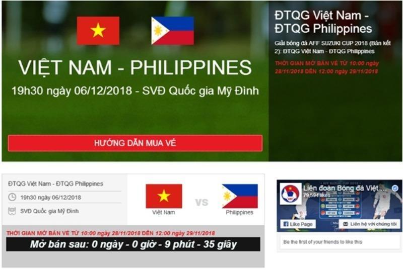 VFF mở bán vé online trận chung kết, tối đa 2 vé/người - ảnh 1