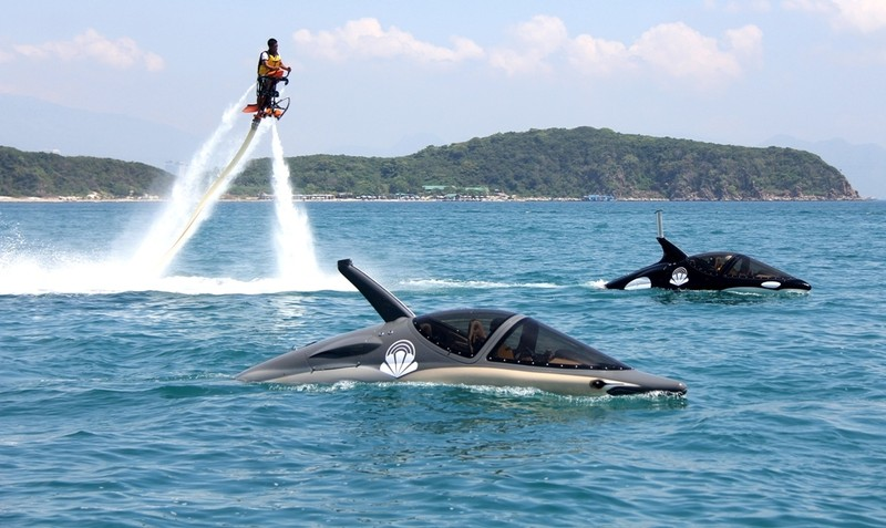 'Cưỡi' cá mập, cá heo tuyệt đẹp trên biển Nha Trang     - ảnh 6