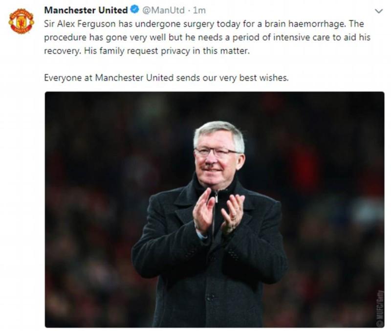 Huyền thoại Sir Alex Ferguson nguy kịch,cả thế giới cầu nguyện - ảnh 8