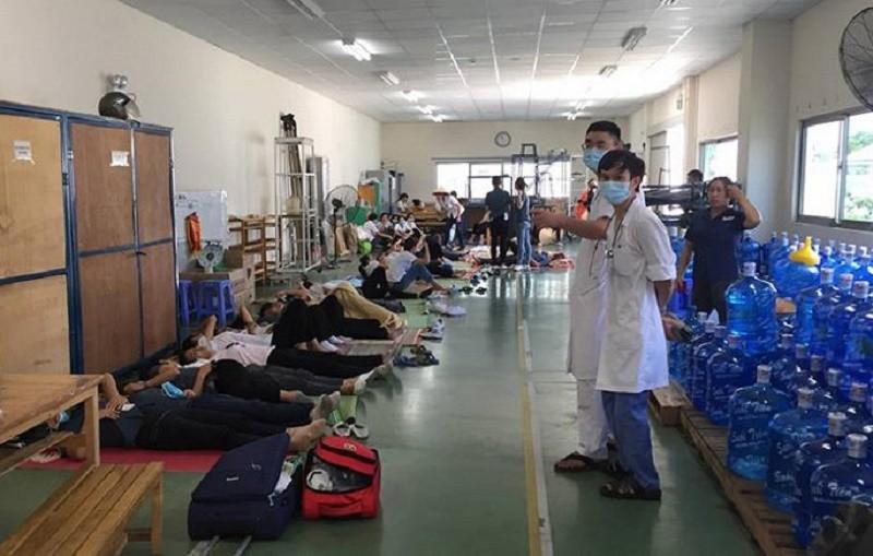 Đoàn công tác liên ngành tỉnh vào cuộc vụ 70 công nhân bị ngất - ảnh 1