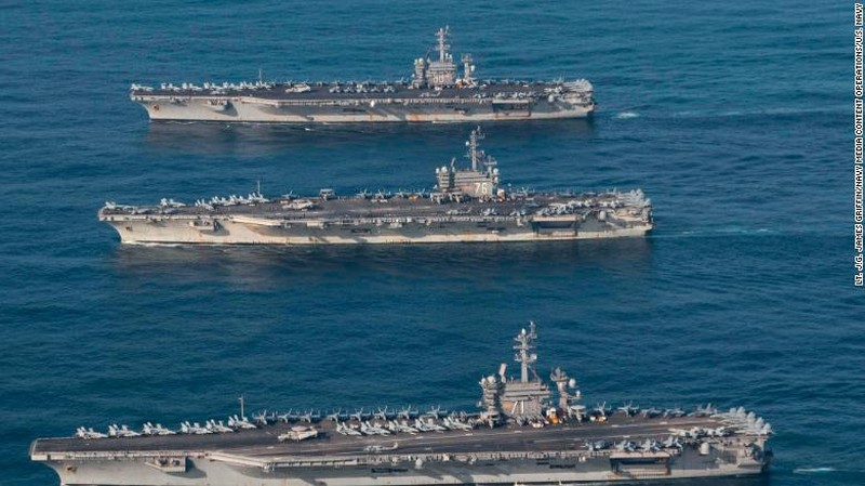 Cận cảnh tàu sân bay Mỹ tập trận gần bán đảo Triều Tiên - ảnh 2