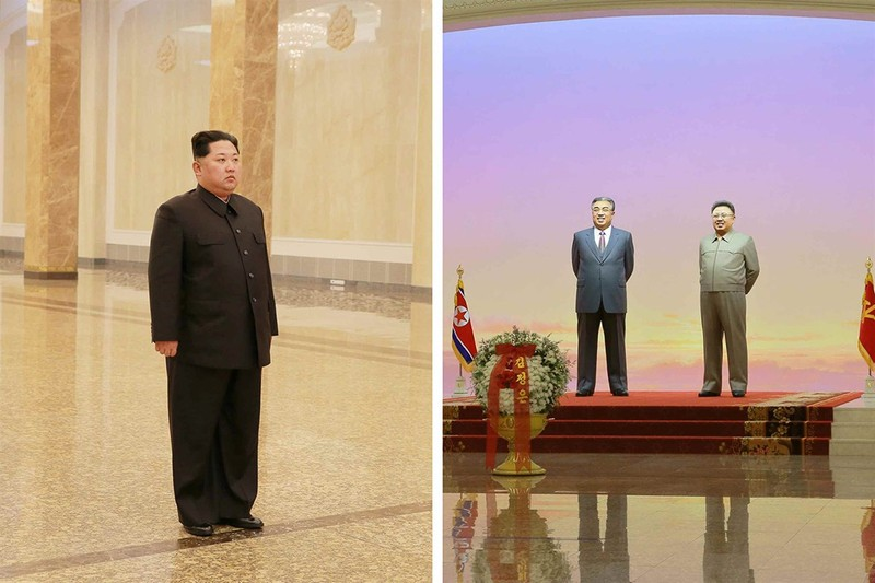 Ông Kim Jong-un lặng người viếng lăng người cha quá cố - ảnh 1