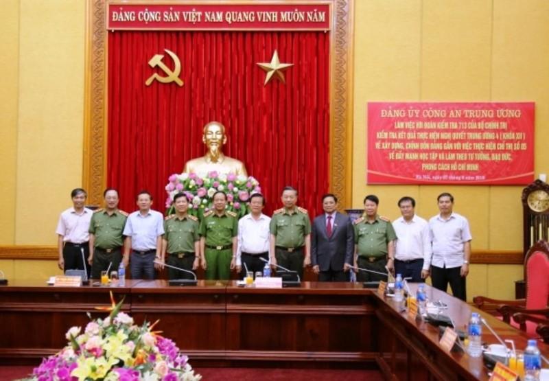 Bộ Chính trị kiểm tra Đảng ủy Công an Trung ương - ảnh 2