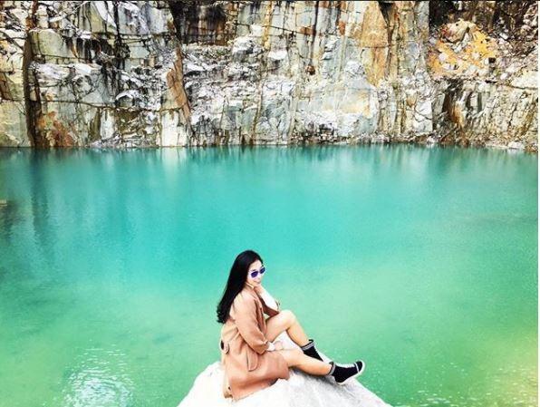 Hồ nước thuộc xã Lát, huyện Lạc Dương, tỉnh Lâm Đồng. Ảnh: @8katelin8