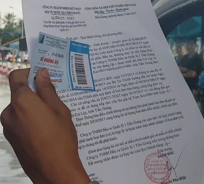 """BOT Cai Lậy nói gì về vụ tài xế nói bán """"vé giả"""" - ảnh 2"""