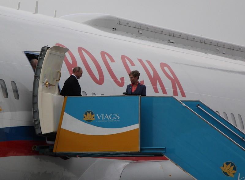Chuyên cơ chở Tổng thống Putin đã đáp xuống Đà Nẵng - ảnh 2