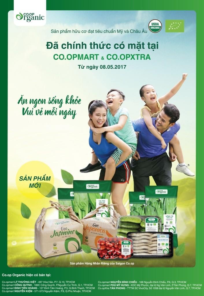 Co.opmart, Co.opXtra ra mắt thực phẩm Co.op Organic - ảnh 1