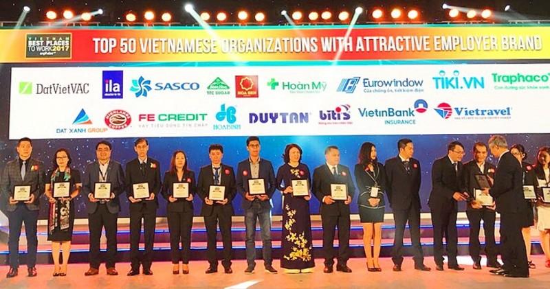 SASCO đạt TOP 50 nhà tuyển dụng hấp dẫn 2017 - ảnh 1