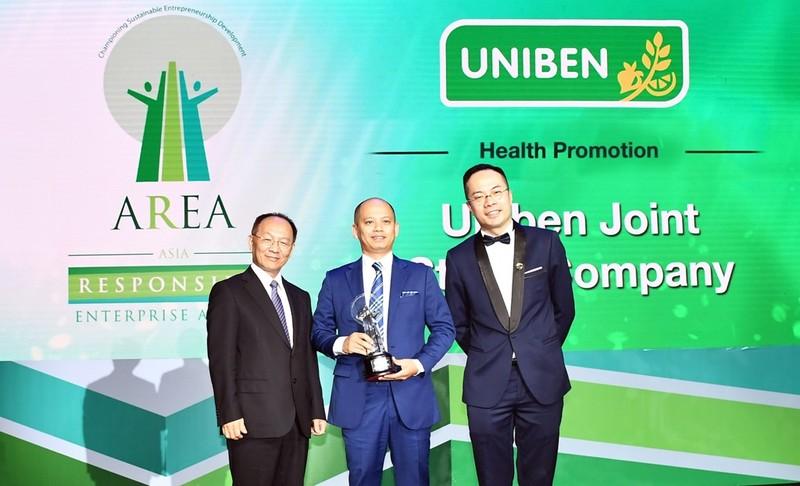 """UNIBEN nhận giải """"Doanh nghiệp Trách nhiệm châu Á"""" 2018 - ảnh 1"""