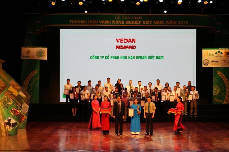 Vedan nhận giải thưởng Thương hiệu vàng nông nghiệp Việt Nam - ảnh 1