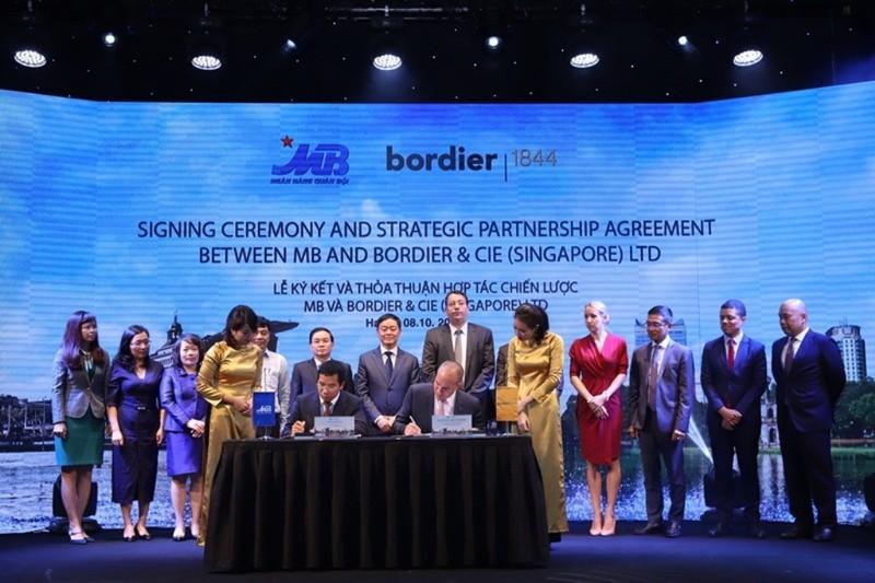 MB ký kết thỏa thuận hợp tác với Bordier & Cie Singapore - ảnh 1