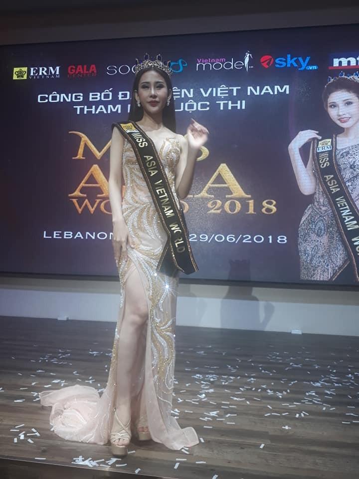 Á khôi mồ côi cha mẹ đại diện VN thi Miss Asia World - ảnh 1