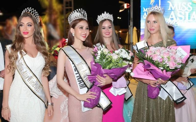 Chi Nguyễn đăng quang Hoa hậu châu Á thế giới  - ảnh 1