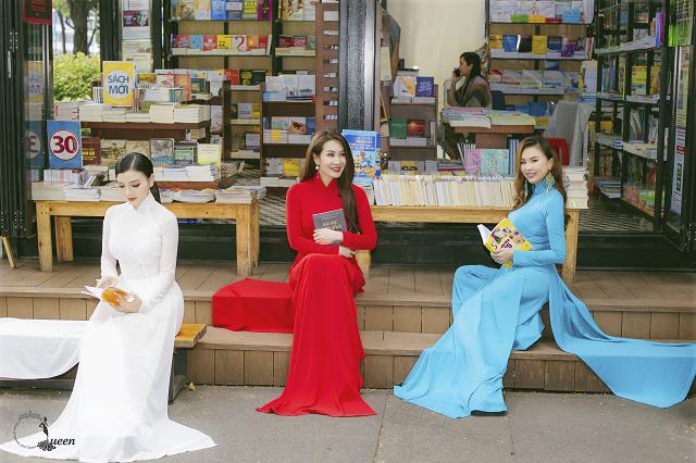 Hoa hậu Pháp diện áo dài, nón lá trên phố Sài Gòn - ảnh 5