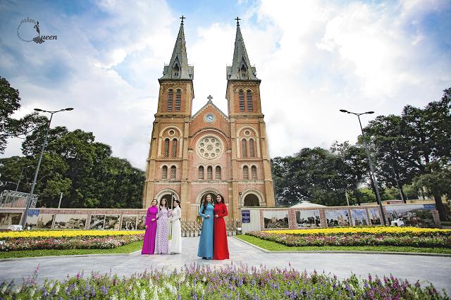 Hoa hậu Pháp diện áo dài, nón lá trên phố Sài Gòn - ảnh 10
