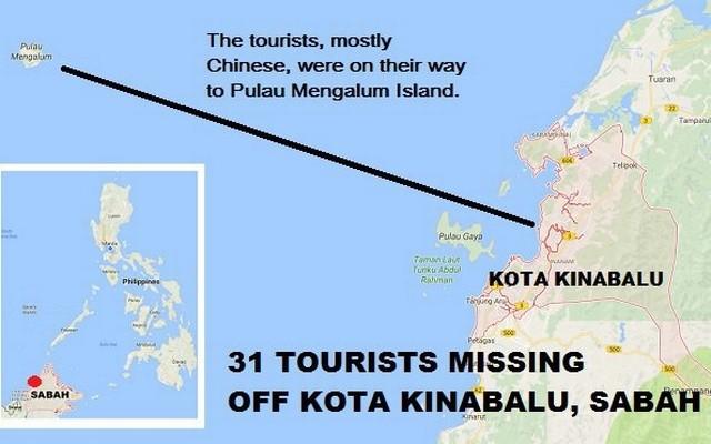 Địa điểm xuất phát và đích đến theo lịch trình của chiếc tàu chở 31 người ngoài khơi Malaysia. Ảnh: INQUIRER
