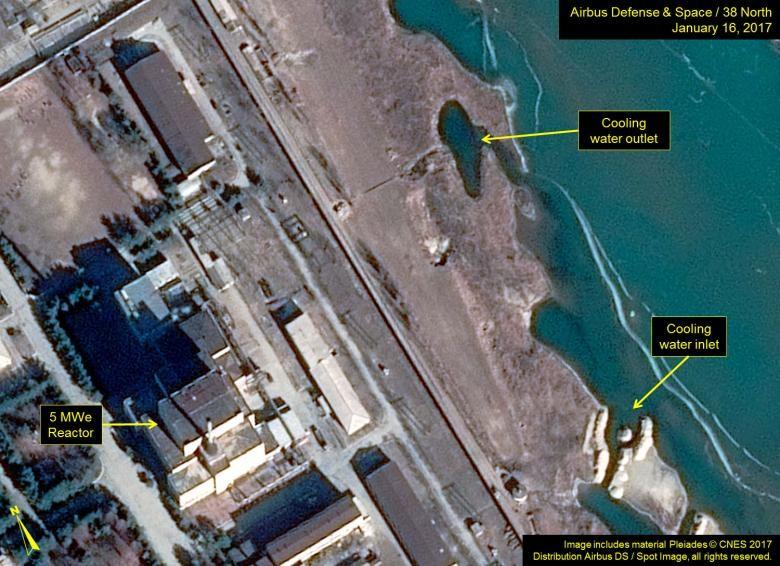 Trung tâm nghiên cứu hạt nhân Yongbyon của Triều Tiên. Ảnh: 38 NORTH.
