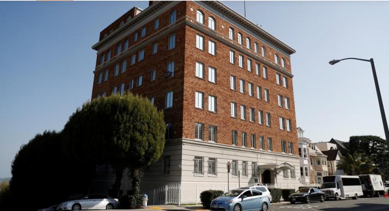 Trụ sở tổng lãnh sự quán Nga ở San Francisco, California (Mỹ). Ảnh: REUTERS