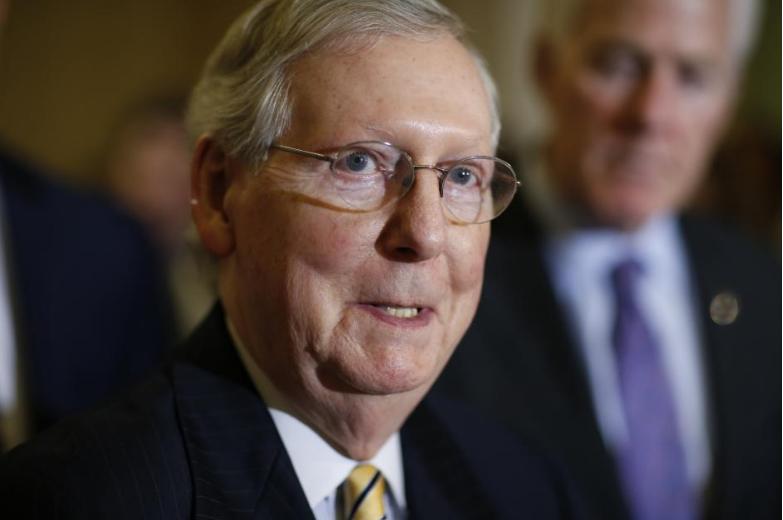 Lãnh đạo phe đa số Cộng hòa tại Thượng viện Mitch McConnell. Ảnh: REUTERS