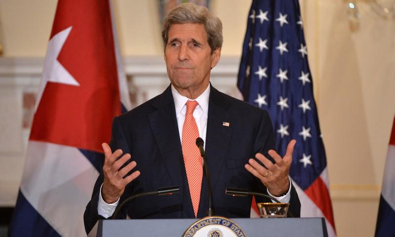 Ông John Kerry, Ngoại trưởng Mỹ dưới thời Obama từng có hàng trăm giờ đối thoại với người đồng cấp Iran trong hơn 20 tháng về thỏa thuận hạt nhân Iran. Ảnh: GUARDIAN