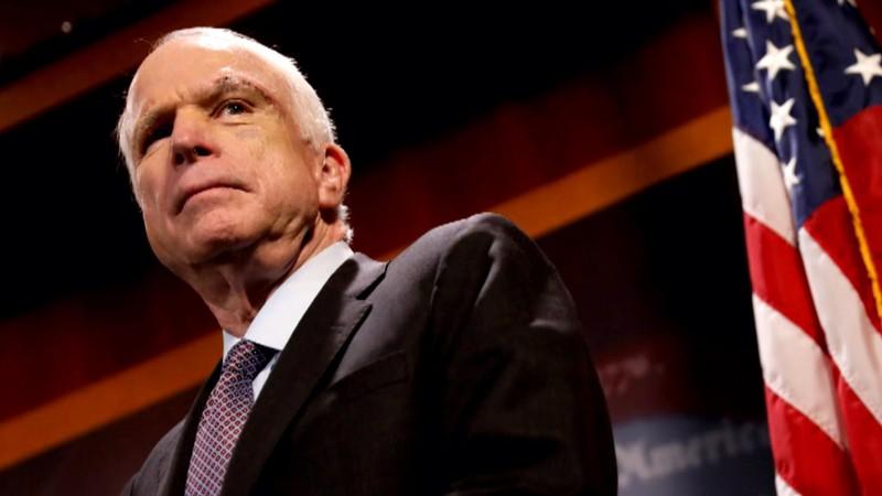 Thượng nghị sĩ Cộng hòa John McCain tại Quốc hội ngày 18-9. Ảnh: NEW YORK TIMES