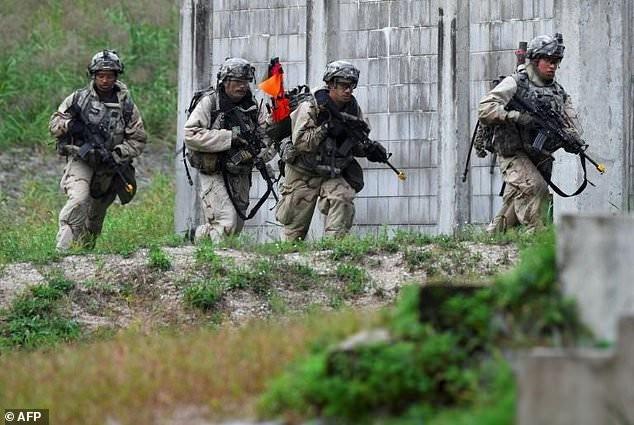 Binh sĩ Hàn Quốc trong một cuộc tập trận. Ảnh: AFP