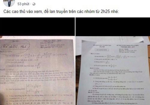 Vụ lộ đề thi văn, toán lớp 10: Giáo viên chụp gửi ra ngoài? - ảnh 1