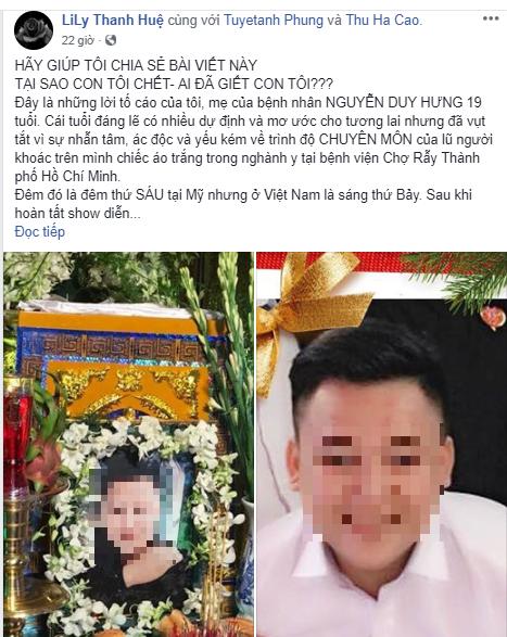 BV Chợ Rẫy nói về cái chết của thanh niên 19 tuổi - ảnh 1