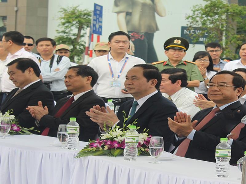 Chủ tịch nước khởi động đồng hồ đếm ngược ở Đà Nẵng  - ảnh 1