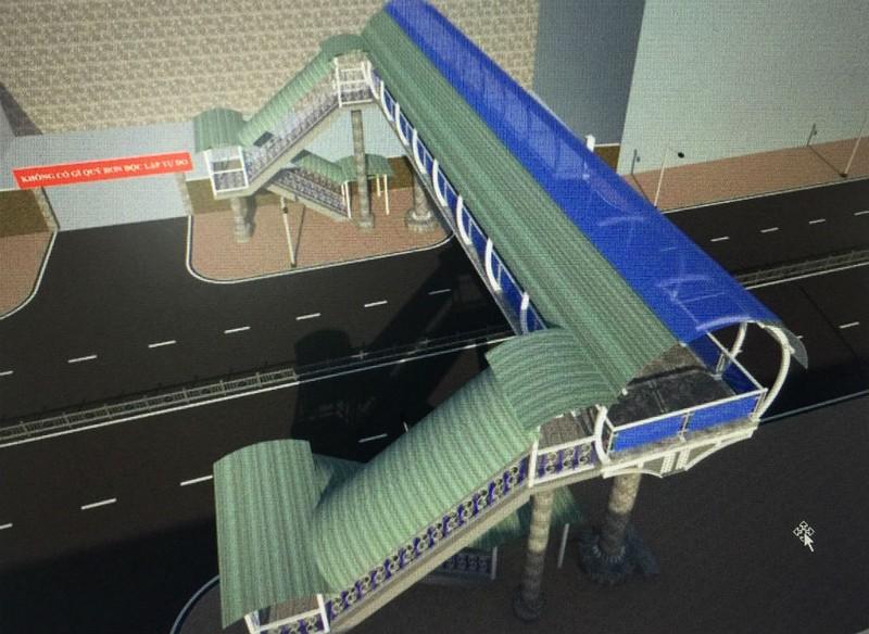Xây ba cầu vượt đi bộ ở Gò Vấp - ảnh 3