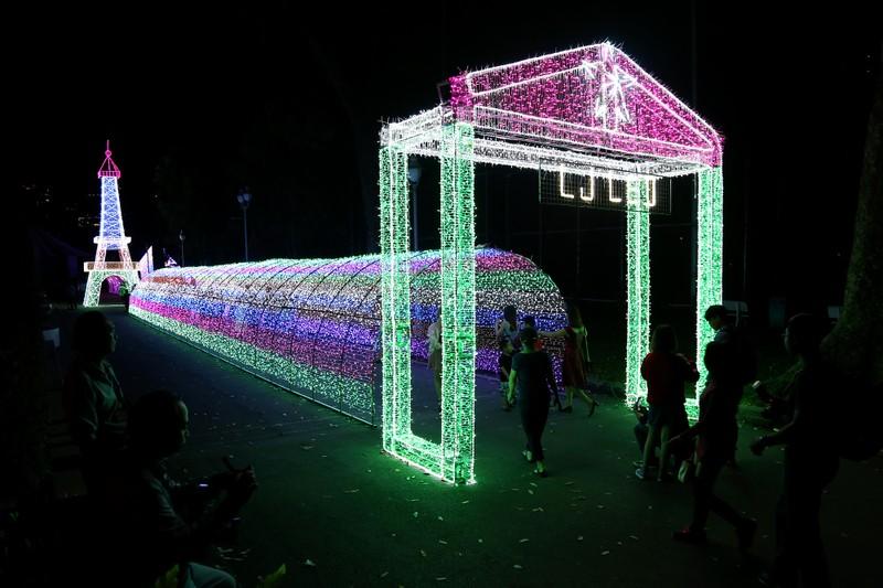 Giới trẻ đổ xô check in khu vườn đèn LED rực rỡ nhất SG - ảnh 1