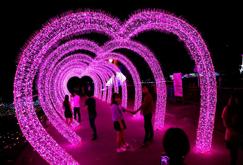 Giới trẻ đổ xô check in khu vườn đèn LED rực rỡ nhất SG - ảnh 4