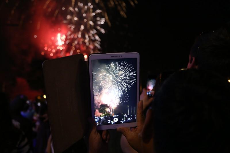Pháo hoa rực sáng TP.HCM mừng 43 năm thống nhất đất nước - ảnh 8