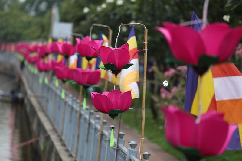 7 đóa sen khổng lồ 'mọc' trên kênh Nhiêu Lộc mừng Phật đản - ảnh 5