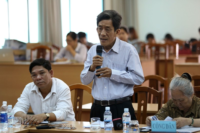 Toàn cảnh lãnh đạo Ban Tiếp dân TW và TP.HCM gặp dân Thủ Thiêm - ảnh 6