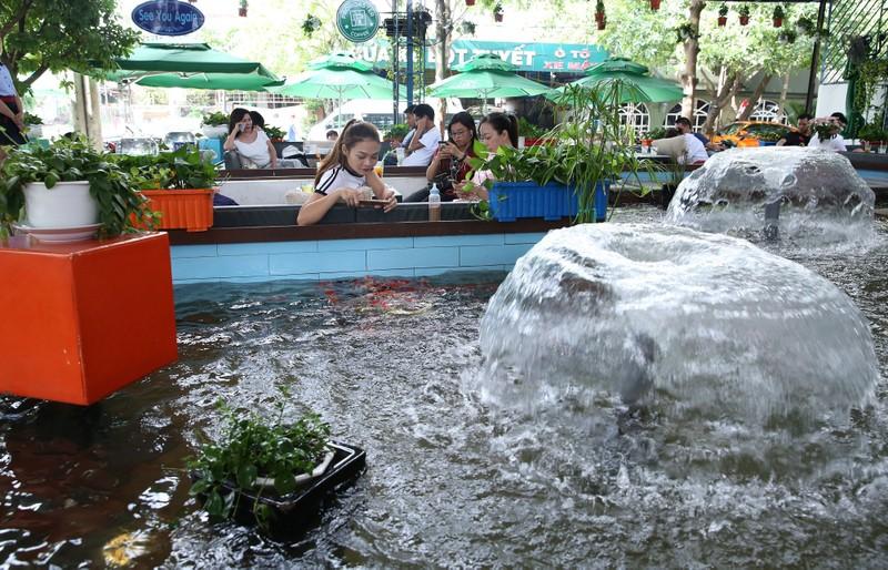 Trải nghiệm uống cà phê giữa hồ cá Koi tiền tỉ ở Sài Gòn - ảnh 4