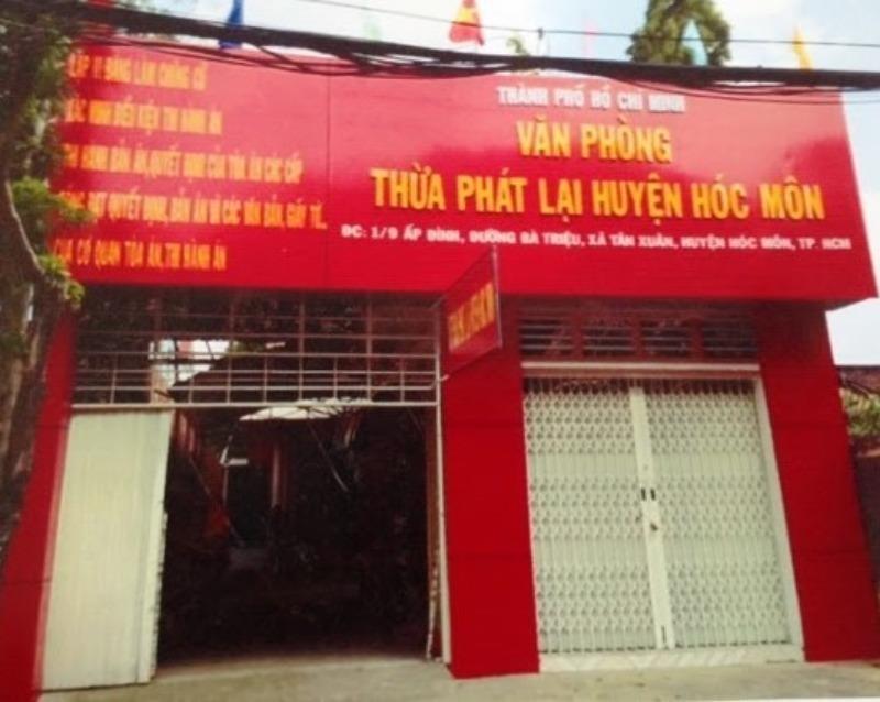 Tạm đình chỉ hoạt động Văn phòng Thừa phát lại huyện Hóc Môn  - ảnh 1