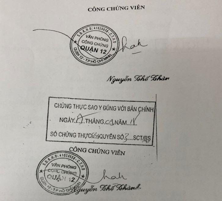 Báo động: Một Văn phòng công chứng giả tại TP.HCM - ảnh 2