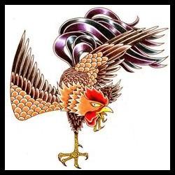 hình xăm con gà