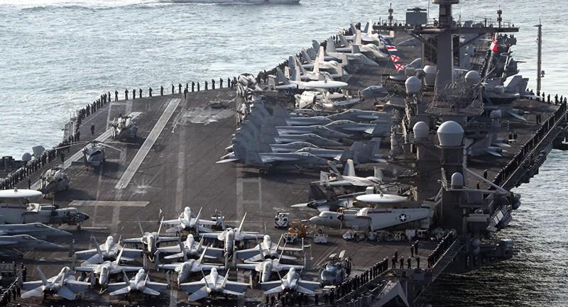 Tàu Nga - Trung bám đuôi tàu sân bay Mỹ gần Triều Tiên - ảnh 1